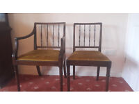 6 matching dining chairs, 2 of which are Carvers. Collection only. Offers of £80+ considered.