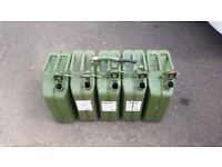 5 Jerry Cans - 20 Litre capacity per can. £10 each or the Five for £40
