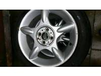 "Mini 16"" alloy wheel GoodYear runflat 195 55 R16 tyre 7.5-8 mm tread"