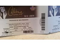 2 Celion Dion tickets for sale. They are seated together. Saturday 29th July at the O2 London.