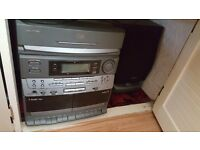 Grundid 5 disc stereo/cd player/radio/casette