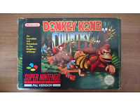 SNES SUPER NINTENDO 1994 DONKEY KONG COUNTRY - COLLECTORS RARE - BOXED
