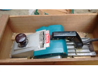 big makita planner with box and new blades