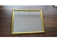 Large antique gold IKEA Levanger mirror
