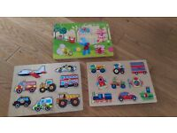 3 x wooden puzzle games (including In the Night Garden) - £2 each