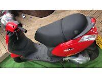Red piaggio zip 49cc LOW MILEAGE