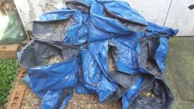 25 bags of mixed gravel, free to collector