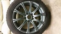 Bmw winter rims and tires excellent condition