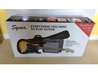 Squier (by Fender) Affinity HSS Stratocaster Electric Guitar Pack with Amp