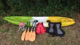 Kayak 1-3 person sit on top