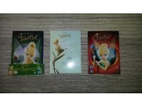 Girls Tinkerbell dvd's and hard back book