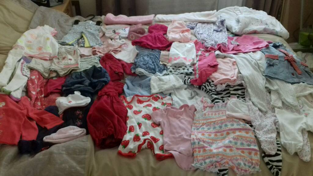 Big baby girl clothes bundle