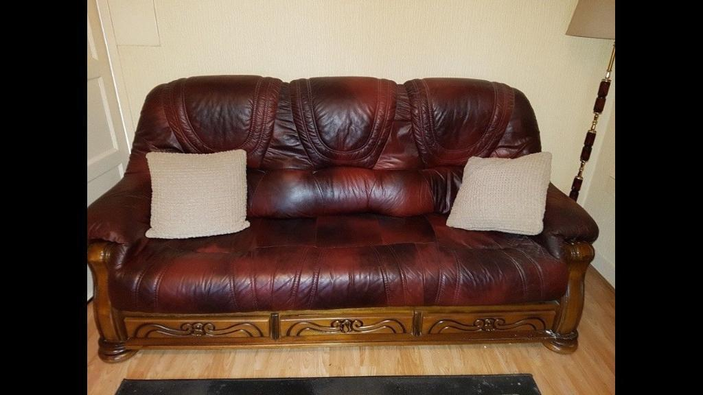 Real Leather 3+1 Seater Sofa Gone Pending Collection Fri 17th Nov