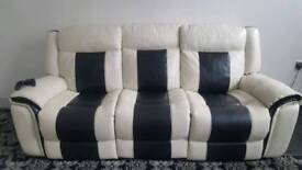 2x 3 seater reclining sofas plus large ottoman