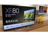 49'' SONY BRAVIA ANDROID SMART 4K HDR LED TV.2018 MODEL KD-49XF8096.FREESAT HD