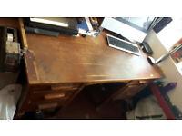"Oak desk 30"" x 54"""