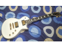 ESP LTD EC1000T CTM DMZ - White Les Paul Custom Ebony