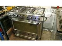 Stunning smeg 90cm ex display dual fuel range cooker
