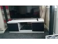high gloss doors black and white tv stand
