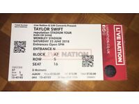 1 Ticket to SOLD OUT Taylor Swift concert tonight at Wembley Stadium