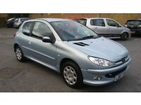 1.4 peugeot 206 3 door 2007 year 51000 mile history 12 month aa cover mot 19/04/2017 hpi clear