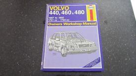 Volvo 440, 460 & 480 Haynes Owners Workshop Manual, 1987 to 1992, 1721cc, 1794cc