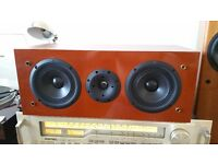 """TRIANGLE Centre Speaker """"NAOS 108"""" = Audiophile Rare HIGH END - Real Cherry Wood Finish"""