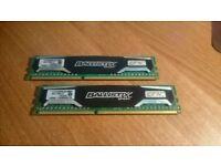 Ballistix 4GB RAM (2x) BLS4G3D1609DS1S00