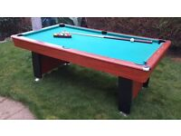 Pool Table and 2 cues