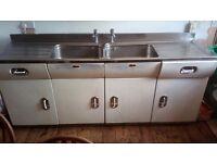 Vintage, Collectors, English Rose Kitchen. Complete metal units