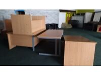 OFFICE DESKS/HOME COMPUTER TABLE IN GOOD CONDITION LOTS OF SPACE 6 AVAILABLE