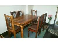 Authentic oak table and chairs