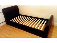 quality single bed frame with underneath storage in great condition
