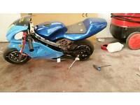 Mini moto with spares