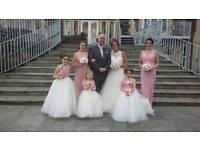 Wedding dress an bridemaid dresses an flower girls gorgous x