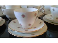Pretty Ditsy Roses China Tea Set for 6, ideal for Vintage Tea Party, Wedding or Dresser
