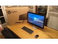 HP Pavilion 23-Q111NA - White - 23 inch Touchscreen All In One Desktop