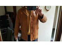 Extra Large Vintage Soft Italian Leather Angelo Litrico tan coloured gents mens jacket