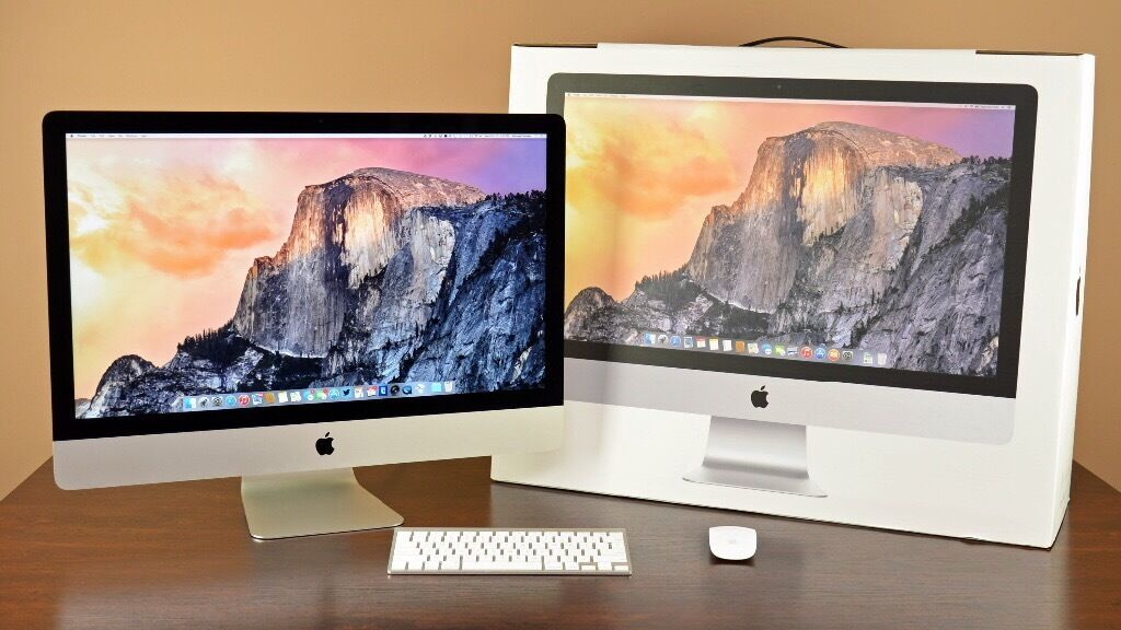 """27"""" iMac 5k retina, i7 4Ghz Quad CPU, 32GB RAM, 1TB Fusion HDD, 4 months oldin Derby, DerbyshireGumtree - 27"""" iMac 5k retina Intel i7 4Ghz Quad CPU 32GB RAM 1TB Fusion HDD AMD Radeon R9 M390 with 2GB video memory Retina 5K 5120x2880 P3 display 4 Months old Receipt included Fully boxed with all accessories in Prestine condition"""