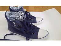 size 4 brand new high tops ladies £7
