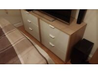 Ikea Askvoll 2x chest of drawers and 1x bedside table
