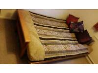 Solid Wood Double Futon