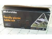 Family picnic table set