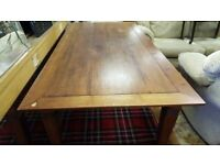 Large Solid Oak Dining Table
