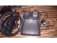 Logitech driving force pc or play station
