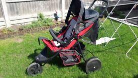 hauck Caviar / Stone Citi Neo II Pushchair Stroller Baby Buggy