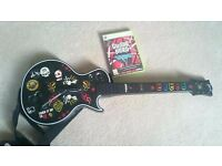 Guitar Hero Wireless Controller with game XBOX 360