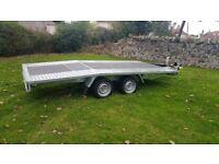NEW Car Transporter Trailer Recovery Flat bed 2700kg GVW 4.5 m long £2450 inc VAT