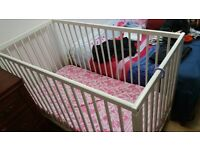 BABY COT, ALMOST BRAND NEW