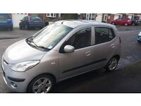 Hyundai i10 style 1.1ltr 5 door 2008 in silver excellent condition 13 months mot lots of extras